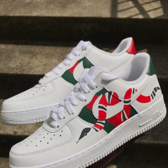 the best new styles buying new Nike air forces w gucci print NWT
